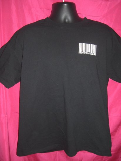 Dystopia  2008 Opiate Of The Masses Large or XL Black T-Shirt
