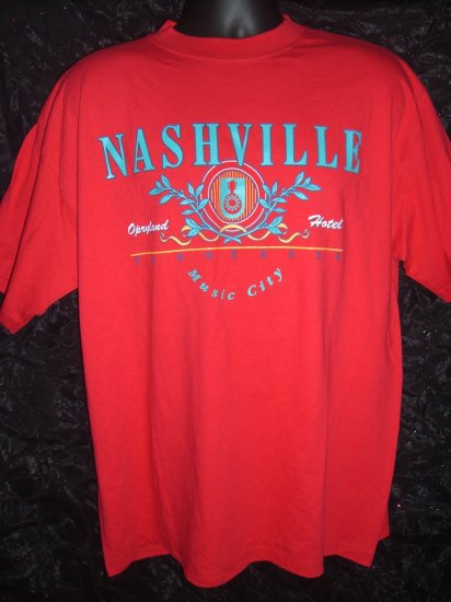 Nashville Opryland Hotel Music City Large or XL Red T-Shirt Tennessee