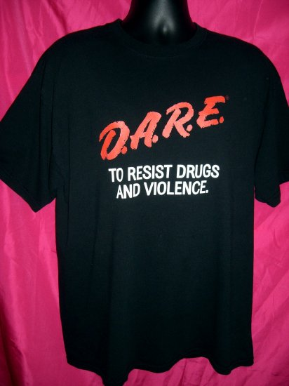 SOLD! Classic D.A.R.E DARE To Resist Drugs Violence XL ~ EXTRA LARGE Black T-Shirt