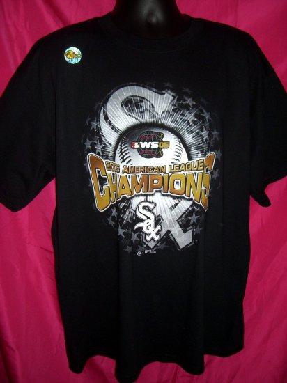 2005 Chicago WHITE SOX XL T-SHIRT NWOT American League Champions