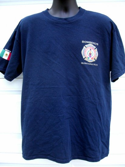 SOLD! Mexican Fire Department XL T-Shirt ~ Quintana Roo ~ Rare Fire Fighter T-Shirt MEXICO
