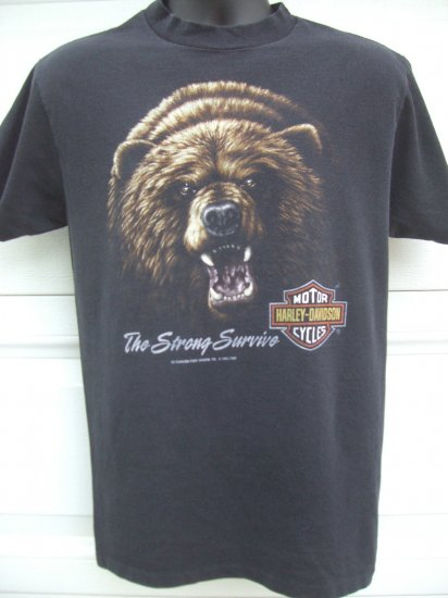 SOLD! Rare Vintage 1991 Harley Davidson MEDIUM T-Shirt Bear  FREE SHIPPING!