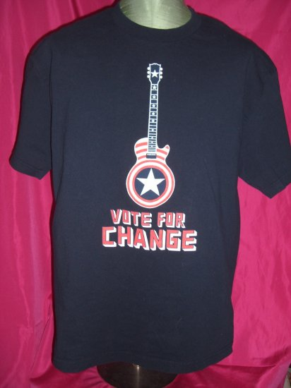 SOLD! Rare 2004 Springsteen Large / XL T-Shirt VOTE FOR CHANGE