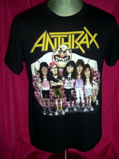 Sold Rare Vintage 1988 Anthrax Band Size Medium T Shirt Heavy Metal