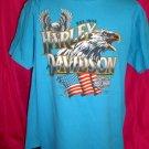 1990 3D Harley Davidson XL T-Shirt Eagle American Flag