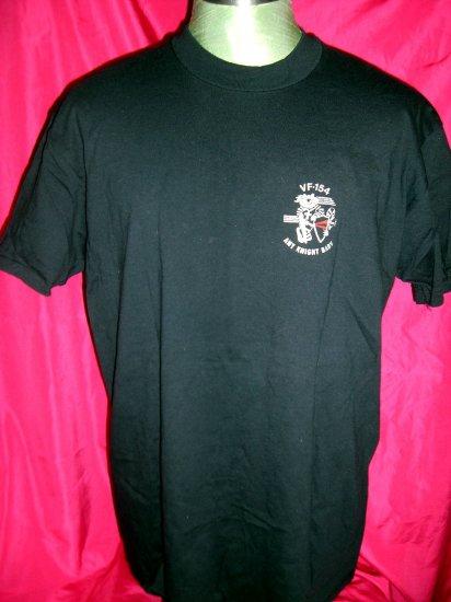 SOLD! US NAVY Strike Fighter ~ Black Knights VF 154 Black Size Large / XL T-Shirt