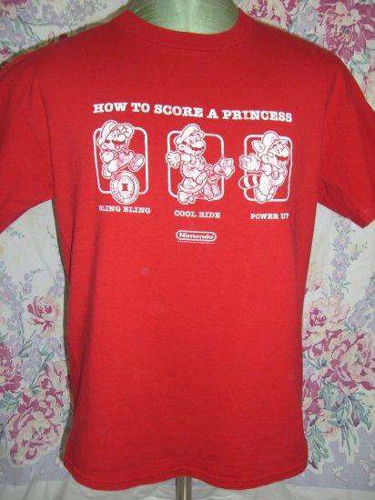 SOLD! Nintendo T-Shirt Size Medium ~ How To Score A Princess Mario