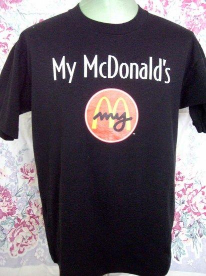 SOLD! My McDonald's Size Large Black T-Shirt .. Is Your McDonalds