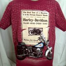 Rare 1995 Harley Davidson T-Shirt Size LARGE ~ Scarce Graphic Must READ!