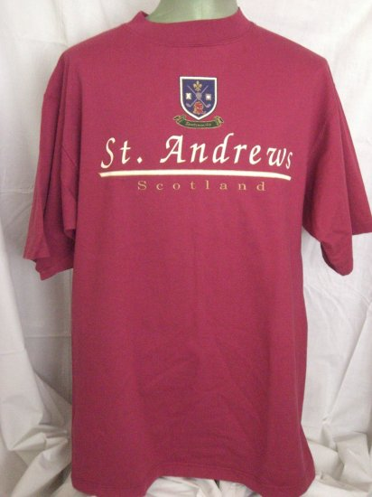 SOLD!  St ANDREWS Scotland XL T-Shirt  Golf Course Souvenir