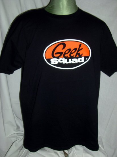 SOLD! GEEK SQUAD Large or XL Black T-Shirt ~ Computer Tech or Nerd
