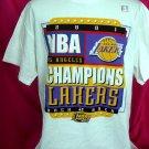 Rare 2001 LA LAKERS Los Angeles Champions Medium T-Shirt NWOT