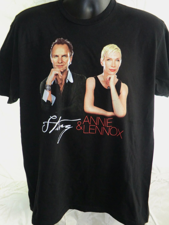 Sting & Annie Lennox Concert Tour T-Shirt 2004 Size Large