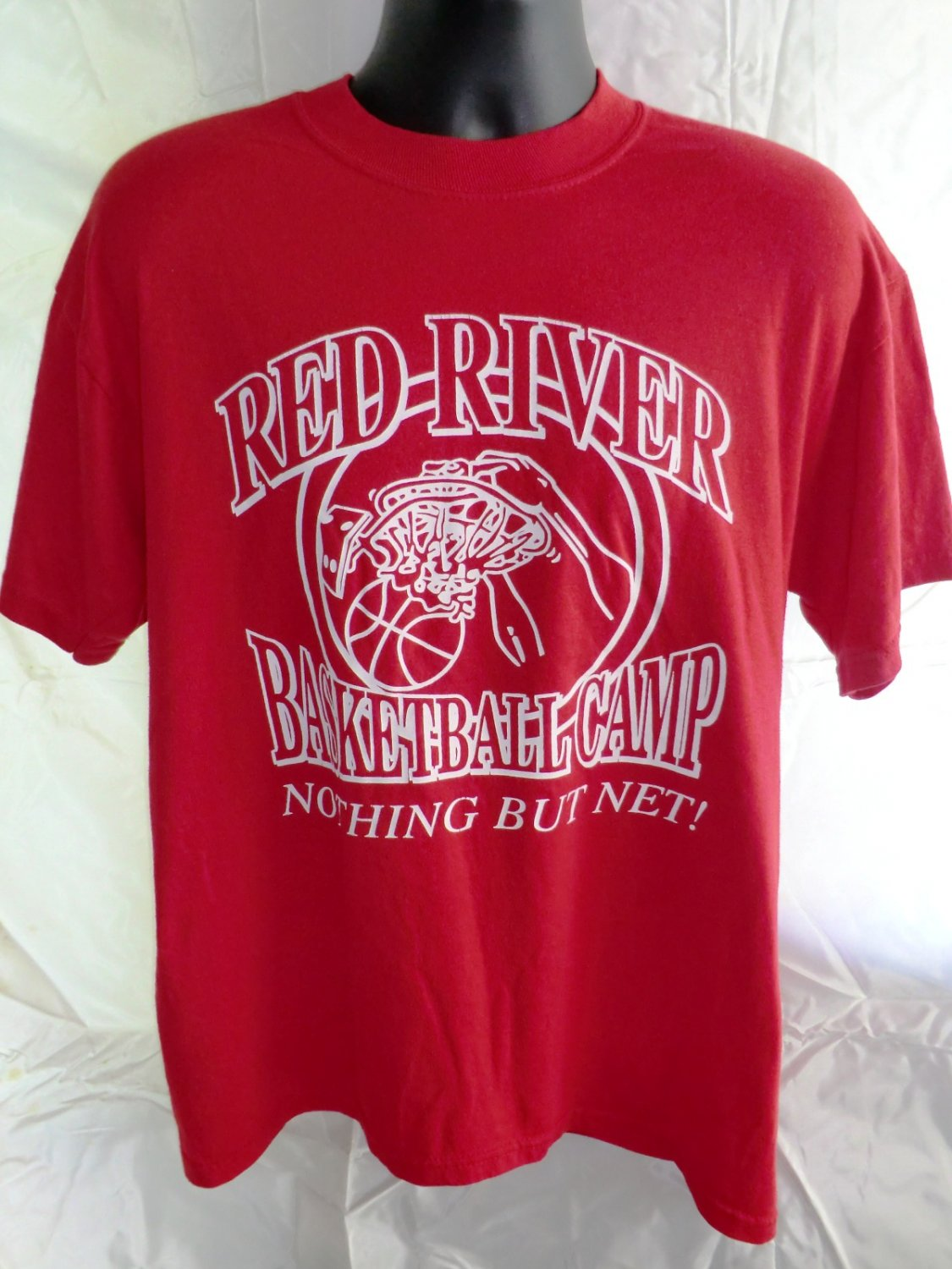 Red River Basketball Camp Nothing But Net Size Large T-Shirt