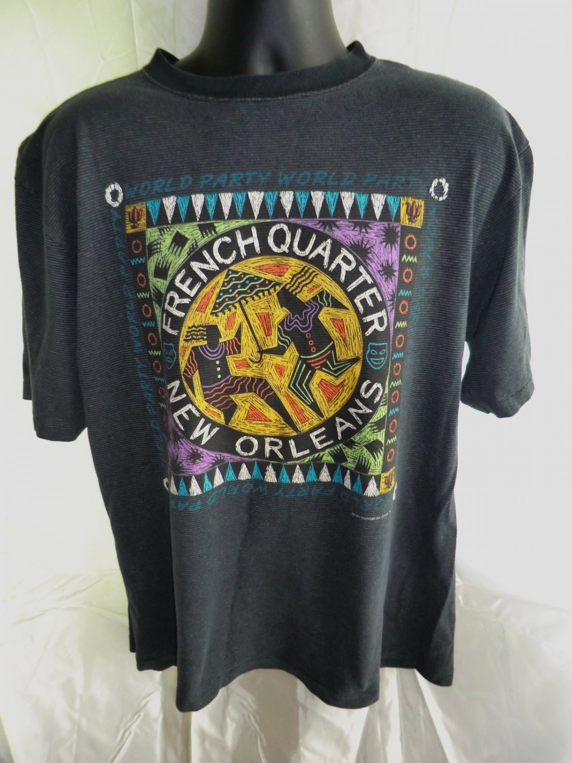 Vintage 1991 New Orleans French Quarter T-Shirt Size XL