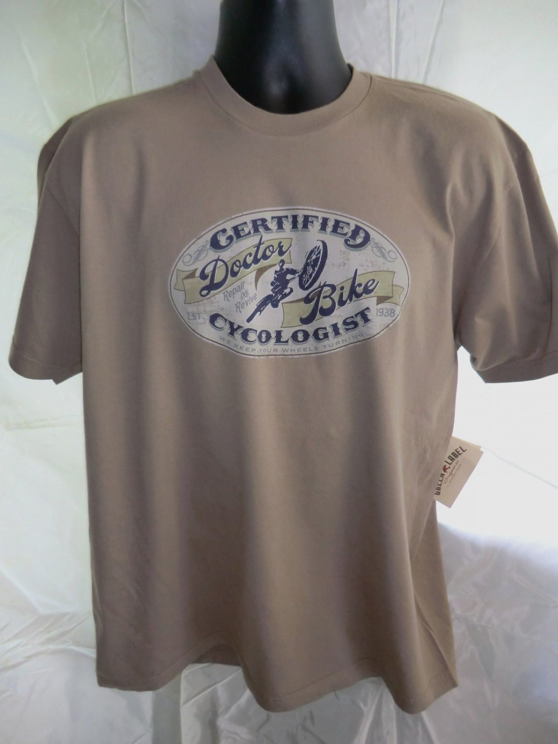 SOLD! NWT Certified CYCOLOGIST Bike Doctor T-Shirt Size Large or XL