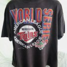 Vintage 1991 MN Minnesota Twins T-Shirt Size XL/XXL