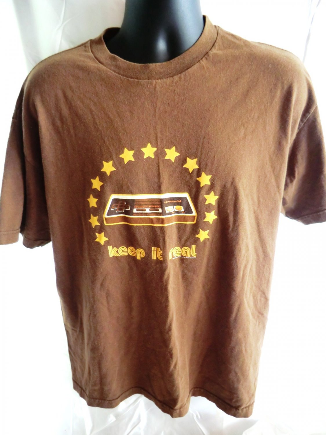 SOLD! Rare Nintendo T-Shirt 2003 Keep It Real Old School Size Large / XL