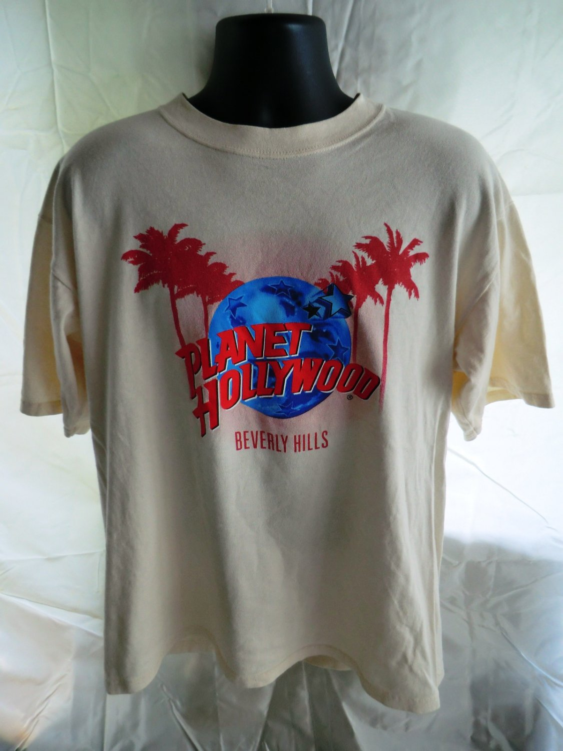 HOLD Planet Hollywood Beverly Hills CA T-Shirt Size Large/ XL 1991
