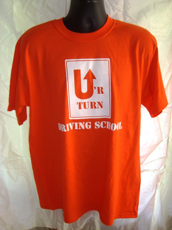 Ur Turn Driving School Orange T-Shirt Size Large/XL