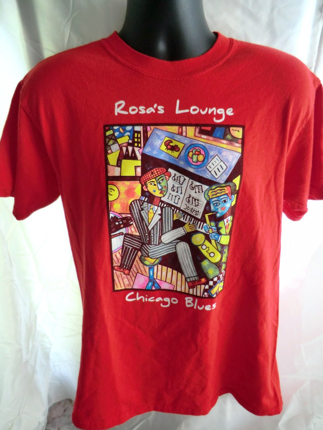 SOLD! ROSA�S LOUNGE Chicago Blues Lounge Red T-Shirt Size Medium