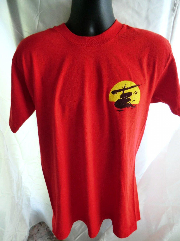 SOLD! Vintage 1988 Broadway�s MISS SAIGON Red T-Shirt Size Medium Large