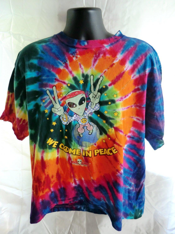 SOLD! Space Aliens Bar Bismark North Dakota Tie Dye XL T-Shirt