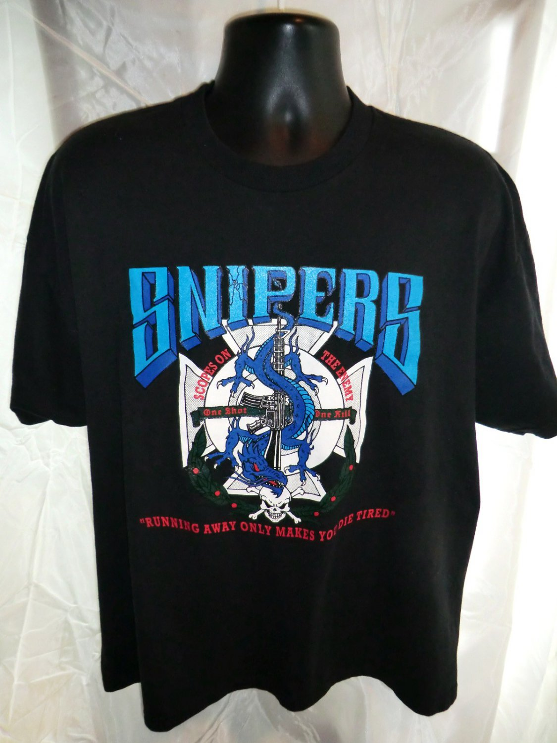 Funny SNIPER XL T-Shirt Running Away Only Makes You Die Tired