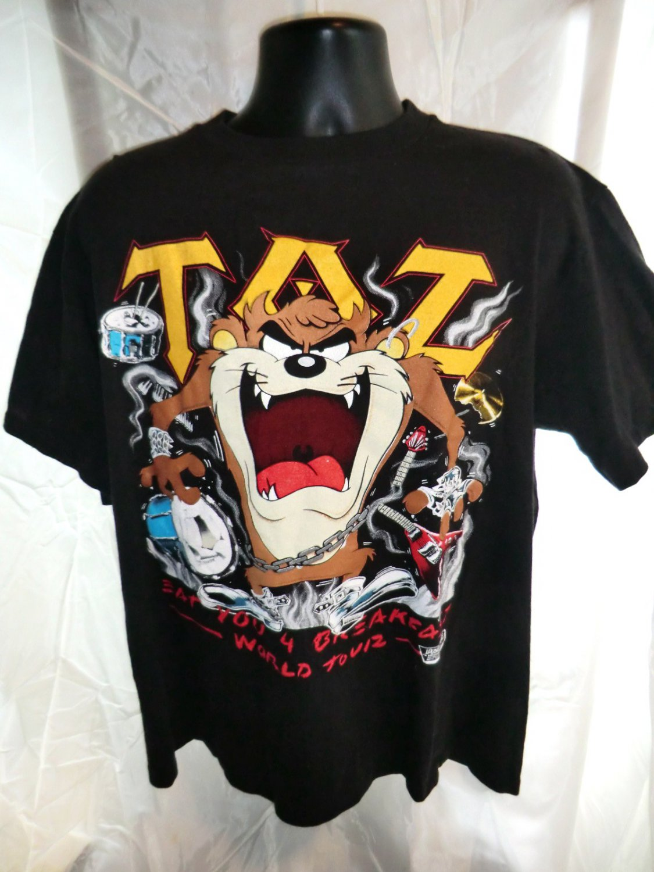 SOLD! Rare 1989 Vintage Taz Warner Bros XL T-Shirt