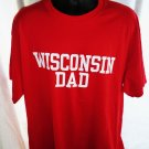 WISCONSIN DAD Red T-Shirt size XL NEW NWT