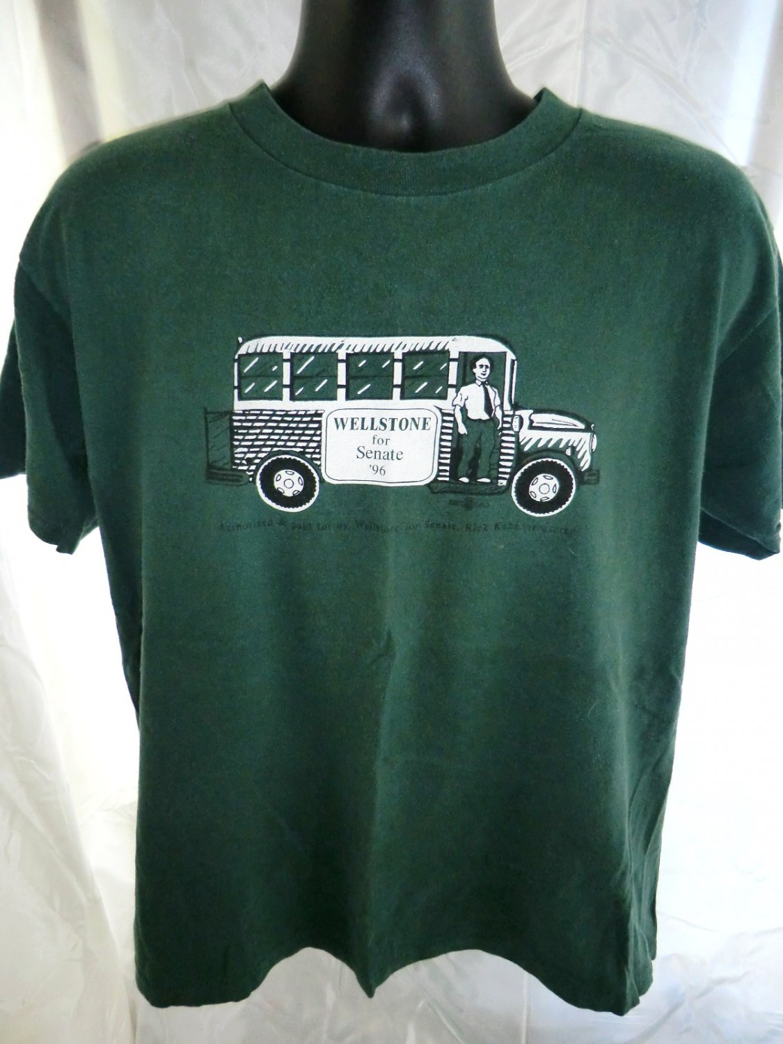 SOLD! Vintage 1996 Paul Wellstone Campaign Large T-Shirt