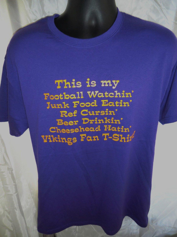 SOLD! Vintage Funny Minnesota Vikings T-Shirt Size Medium / Large