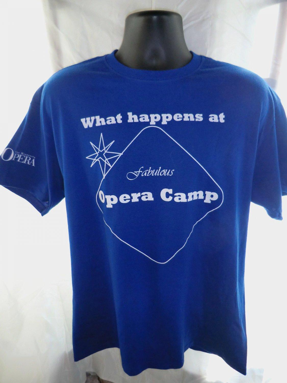 "Minnesota OPERA CAMP Large T-Shirt ""What happens at Opera Camp Stays..."""