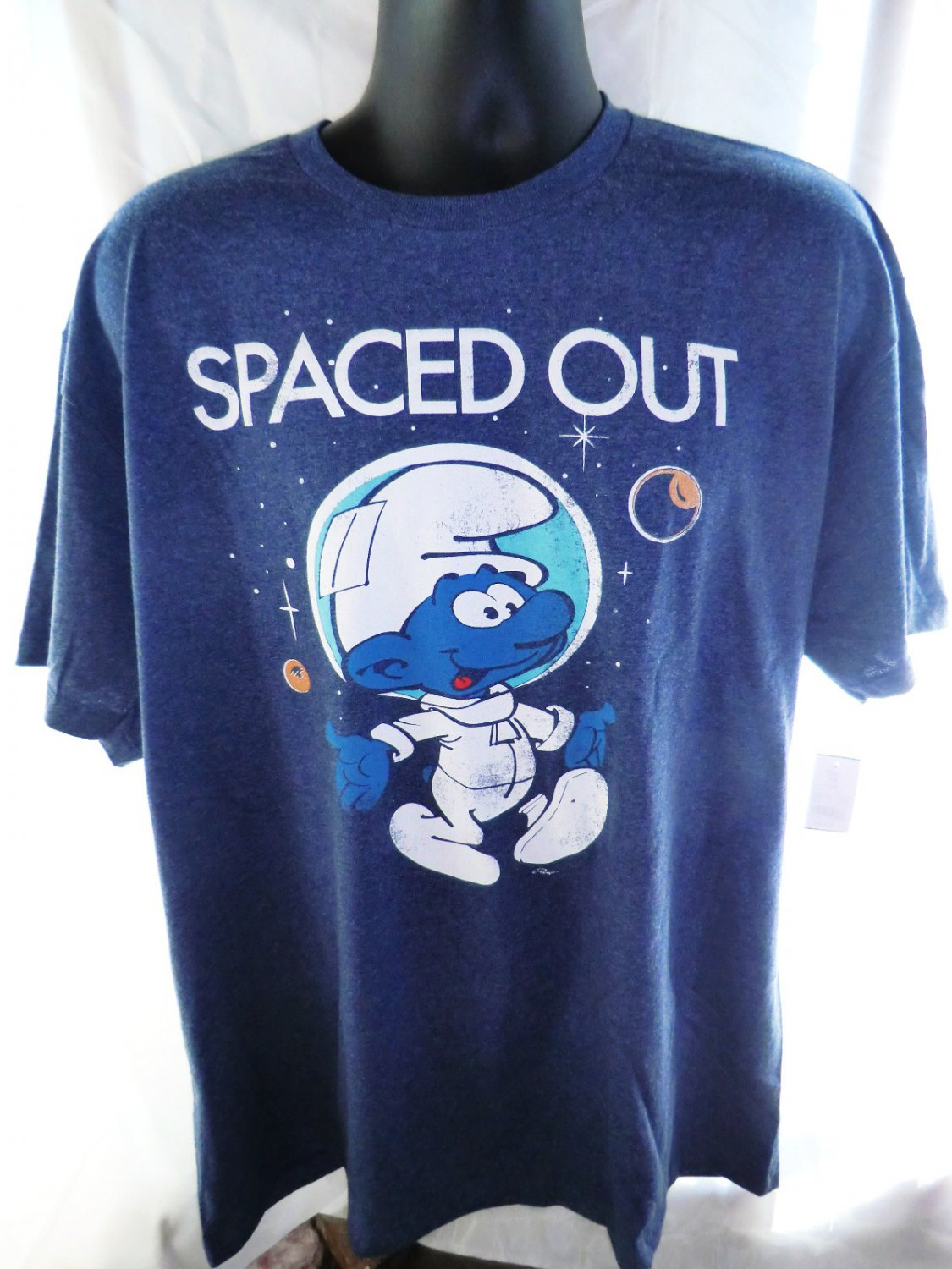 SOLD! NEW! Spaced Out Smurf T-Shirt Size XXL
