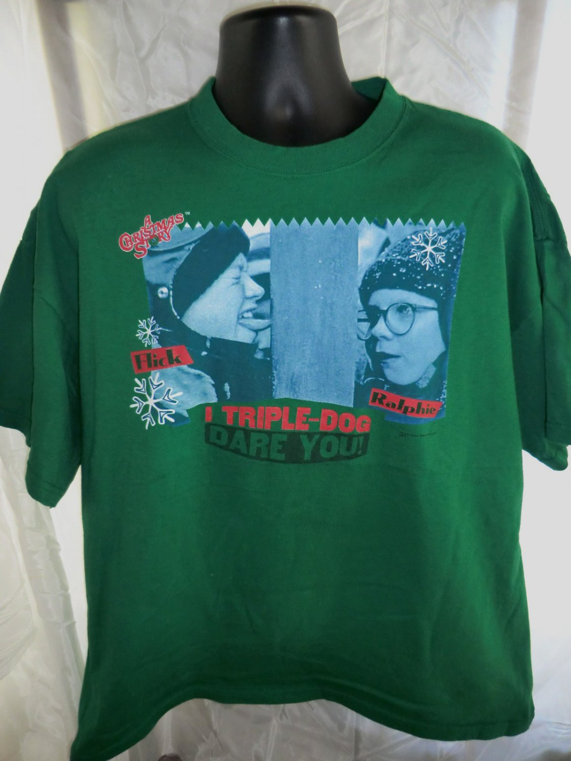 SOLD! A Christmas Story TRIPLE DOG DARE YOU T-Shirt Size XXL 2XL