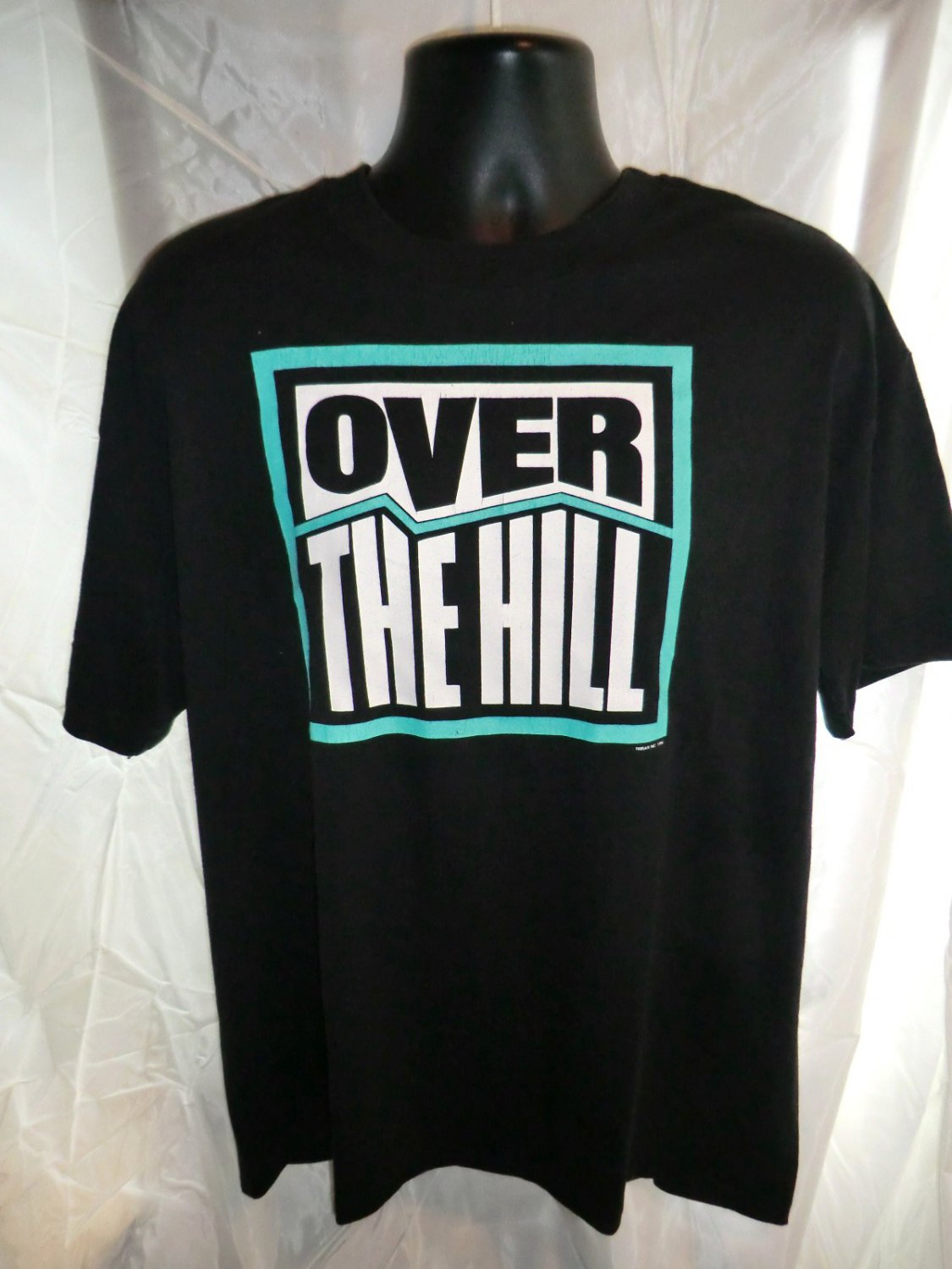 Funny OVER THE HILL T-Shirt Size Large XL Vintage 1990