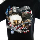 """US Navy Eagle Graphic Black  Size Medium T-Shirt Military USN """"Don't Tread On Me"""" Anchor"""