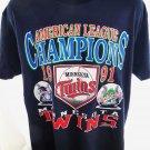 Rare 1991 Minnesota Twins Championship T-Shirt Size Large