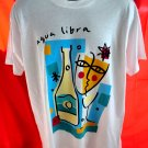 Aqua Libra T-Shirt Screen Start Best Size Large