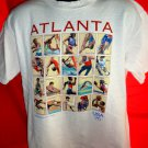Atlanta Olympics 1996 T-Shirt Size Large ~ USPS Stamps Design