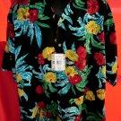 NEW! Reservoir Hawaiian Floral Shirt Size XXL Black Yellow Red Flowers