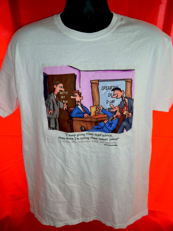 Funny Lawyer T-Shirt ~~ Legal advice \u2026Lawyer Jokes ~~ Size Large