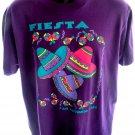 Vintage 1993 Fiesta San Antonio Texas Purple T-Shirt Size Large