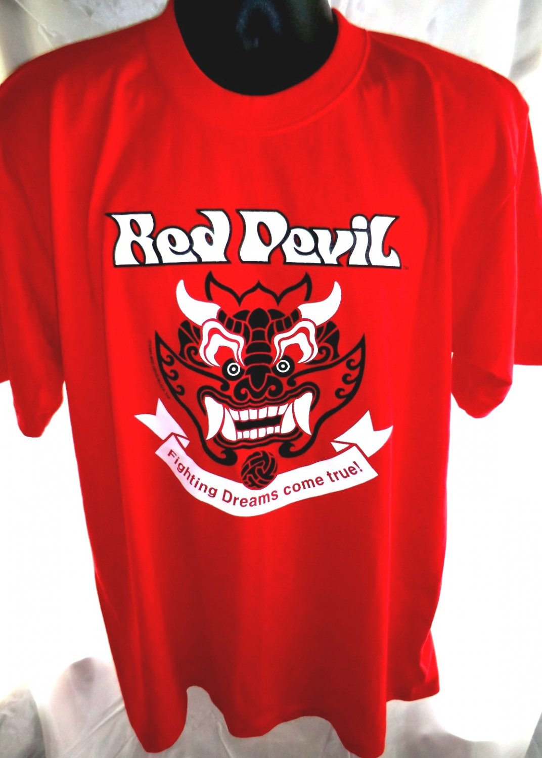 Red Devil Fighting Dreams Come True T Shirt Size Large Xl