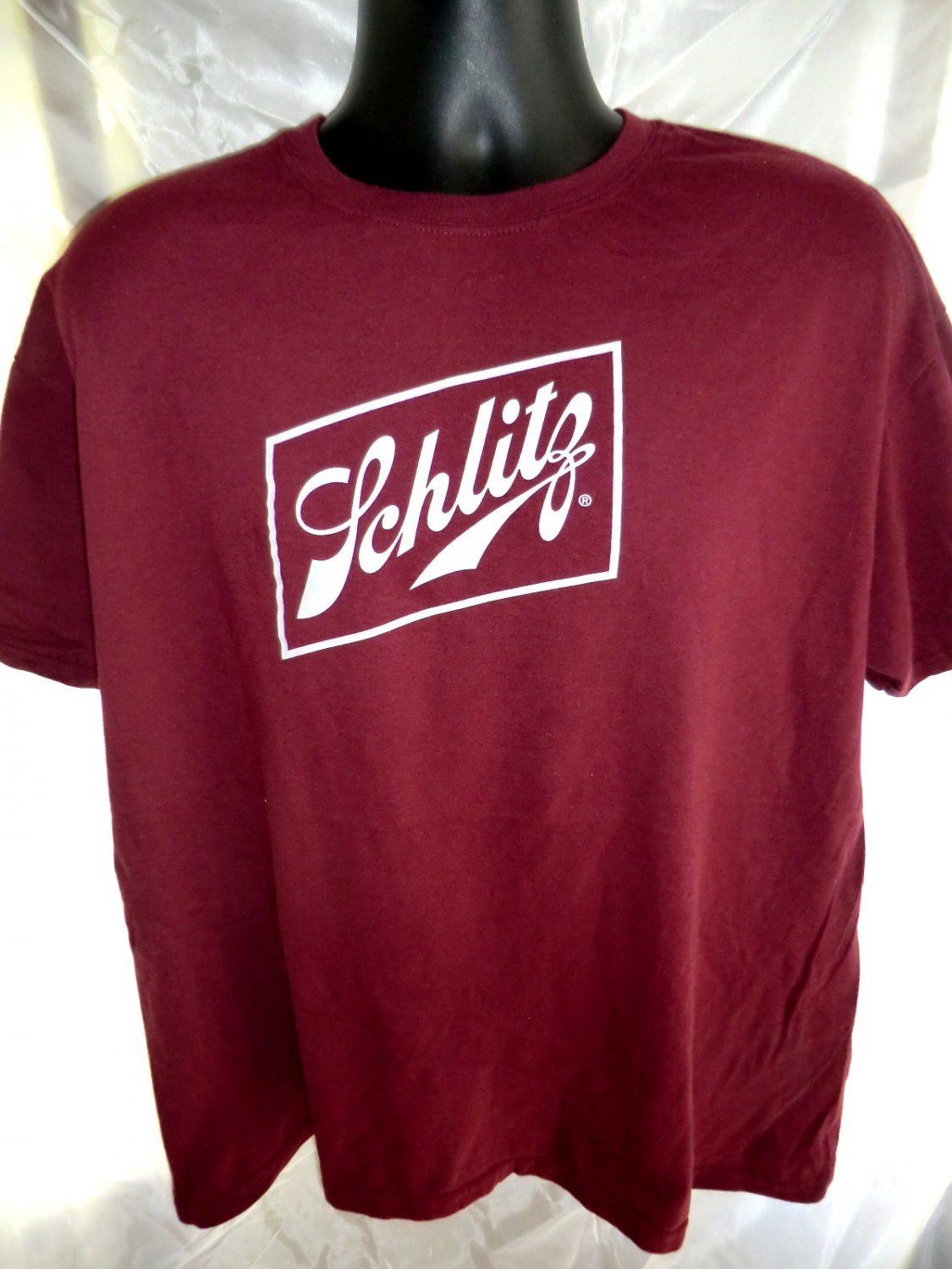 """SOLD! Schlitz Beer """"Here's To Big Cans"""" Tall Boy T-Shirt ..."""