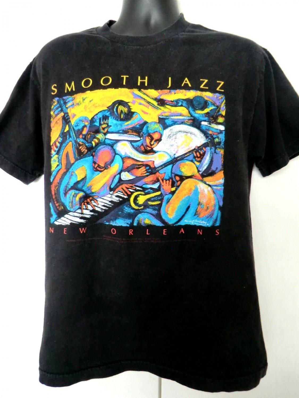 Vintage Smooth Jazz New Orleans T Shirt Size Medium Worn