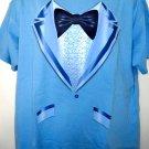 Blue Tuxedo Tux T-Shirt Size XL