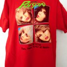 POISON Red T-Shirt Size XL Glam Slam Kings of Noise