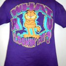 Vintage 1978 GARFIELD the Cat T-Shirt ~ What R U Looking At? Size Medium