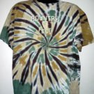 Tie Dye Country Fest Cadott Wisconsin T-Shirt 2001 Size XL County Music Concert